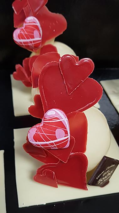 Spécial Saint-Valentin/Cœur gourmand chocolat/ caramel