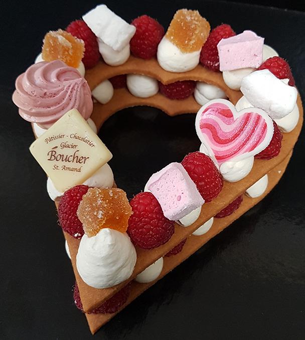 Spécial Saint-Valentin/Cœur gourmand framboise